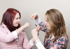 Sisters fighting Stock Images