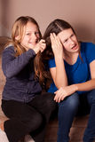 Sisters fighting Royalty Free Stock Image