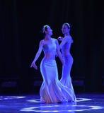 Sisters flower-The national folk dance Stock Photos