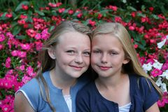 Sisters and Friends Royalty Free Stock Images