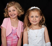sisters girls Stock Photo