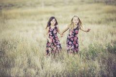 Sisters, Girls, Summer, Fun Stock Photo