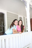 Sisters Having Fun at Home Royalty Free Stock Images