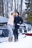 Sisters having selfie photo on ski resort Royalty Free Stock Photos