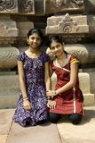 Sisters at Historical Place Stock Images