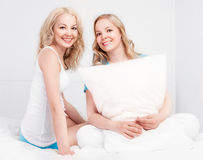 Sisters at home Royalty Free Stock Images