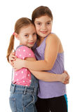 Sisters hug Royalty Free Stock Photography