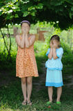 Sisters. An image of sisters outdoors royalty free stock photography