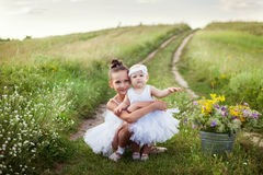 Sisters involved in the field of ballet stock image