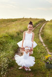 Sisters involved in the field of ballet Royalty Free Stock Images