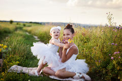 Sisters involved in the field of ballet Royalty Free Stock Photography