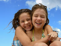 Sisters love 3 Royalty Free Stock Photos