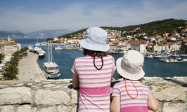 Sisters over Trogir Stock Image
