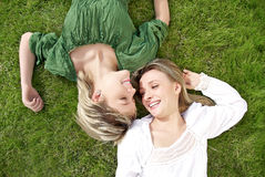 Sisters in the park Royalty Free Stock Photos