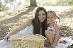 Sisters Picnic in the Park Stock Photos