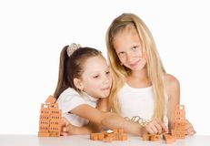 Sisters play portrait Royalty Free Stock Images