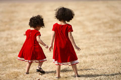 Sisters playing Stock Images