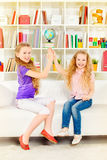 Sisters playing Royalty Free Stock Photo