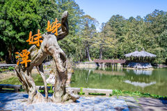 Sisters pond in alishan Stock Photography