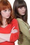 Sisters after quarrel Stock Photos