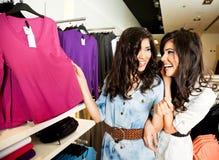 Sisters shopping Stock Photos