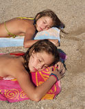 The sisters sleep Royalty Free Stock Images