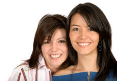 Sisters smiling Royalty Free Stock Photo