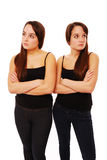 Sisters sulking Royalty Free Stock Photography