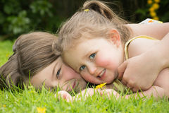 Sisters on a summer day Stock Photography