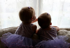 Sisters in Tutus Stock Photography