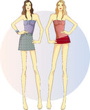 Sisters - twins Royalty Free Stock Image