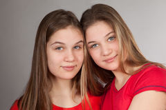 Sisters twins Stock Images