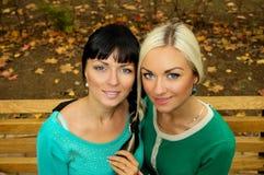 Sisters woven braid hair Royalty Free Stock Photo