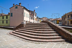 Γέφυρα Sisti. Comacchio. Αιμιλία-Ρωμανία. Ιταλία. Στοκ εικόνες με δικαίωμα ελεύθερης χρήσης
