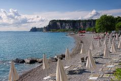 Sistiana beach Stock Images