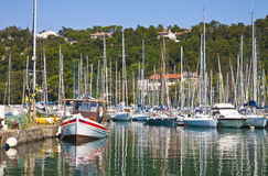 Sistiana harbor on Adriatic sea near Trieste Stock Photography