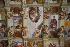 Sistina ceiling in vaticano, rome Royalty Free Stock Photography