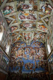 Sistine Chapel. Ceiling fresco in the vatican museum rome, italy Royalty Free Stock Photo