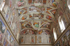 Sistine Chapel. In the Vatican City Stock Photos