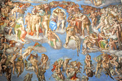 Sistine chapel. Wall of the sistine chapel in the Vatican, Rome, Italy Stock Photography