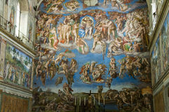Sistine chapel. The fresco of the Last Judgement in Sistine chapel royalty free stock images