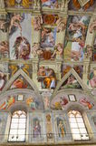 Sistine chapel ceiling paintings Royalty Free Stock Photos