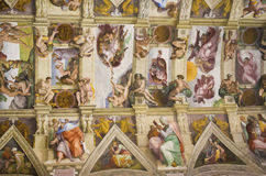 The Sistine Chapel detail Stock Image