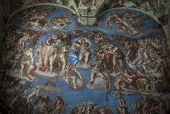 Sistine Chapel-Judgment day Stock Photography