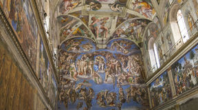 The Sistine Chapel Stock Photography