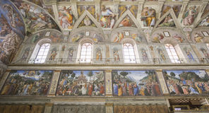 The Sistine Chapel Stock Photos