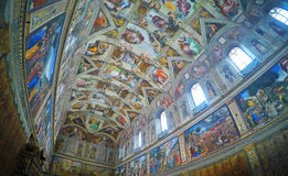 Sistine Chapel. A photo tooked inside the sistine chapel, in Rome Royalty Free Stock Image