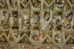 Sistine chapel in Vatican Royalty Free Stock Images
