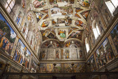 Sistine Chapel in Vatican Stock Photo