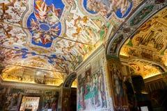 Sistine kapell (Cappella Sistina) - Vaticanen, Roma - Italien Royaltyfri Bild